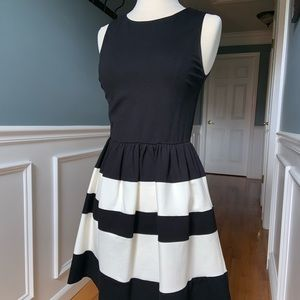 Cute black and white dress- Bar III